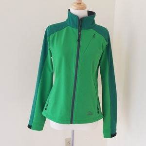 L.L. Bean small greenfield zip spring jacket .